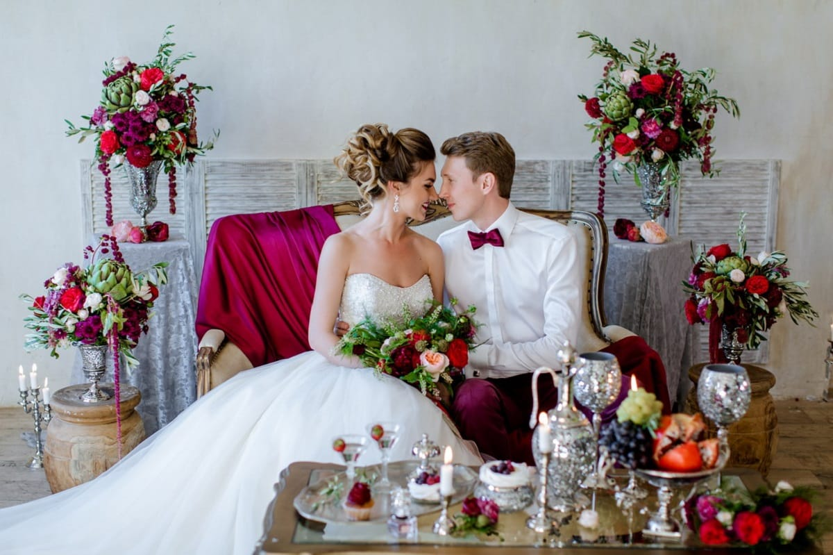 Истина в вине: свадьба в стиле марсала
