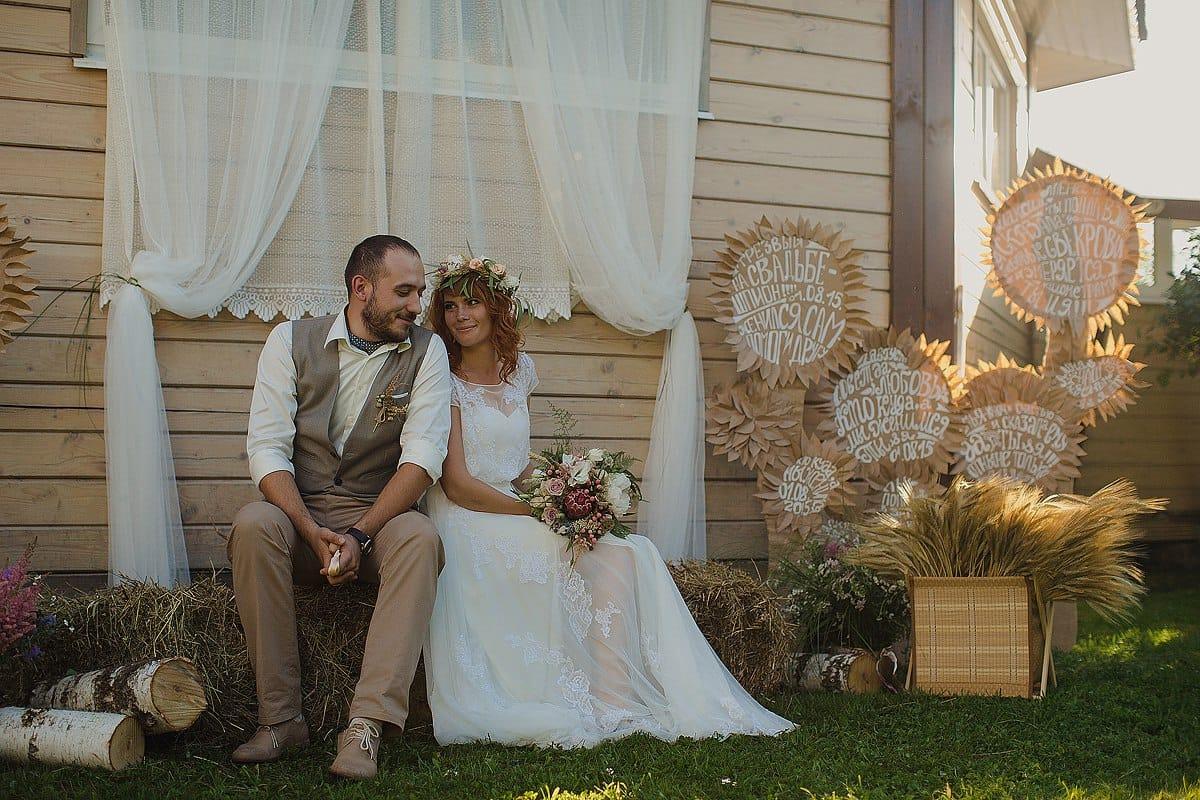 Ближе к природе: свадьба в стиле рустик