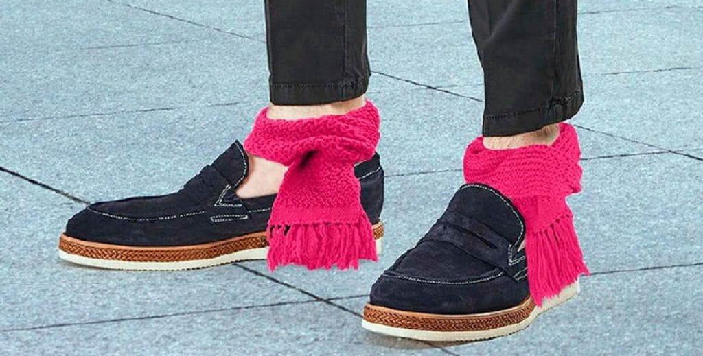 Мини-шарфы для щиколоток стали новым трендом моды