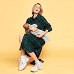 Дарья Мельникова с сыном в фотосессии