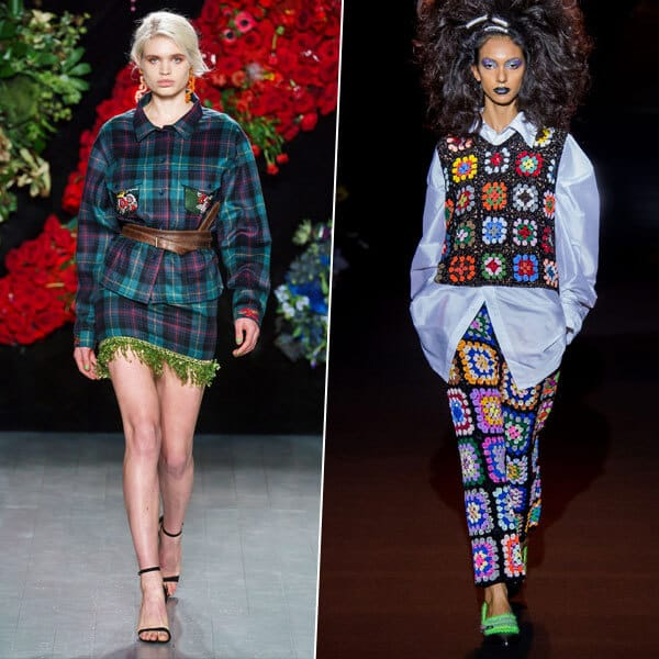 Клетка, цвет и многослойность: основные тенденции Недели моды в Лондоне