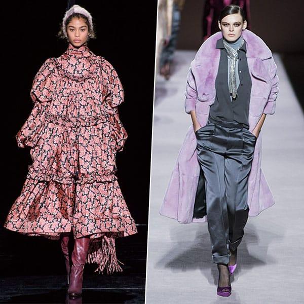 Оверсайз, диско и меховые мюли: тренды Недели моды в Нью-Йорке