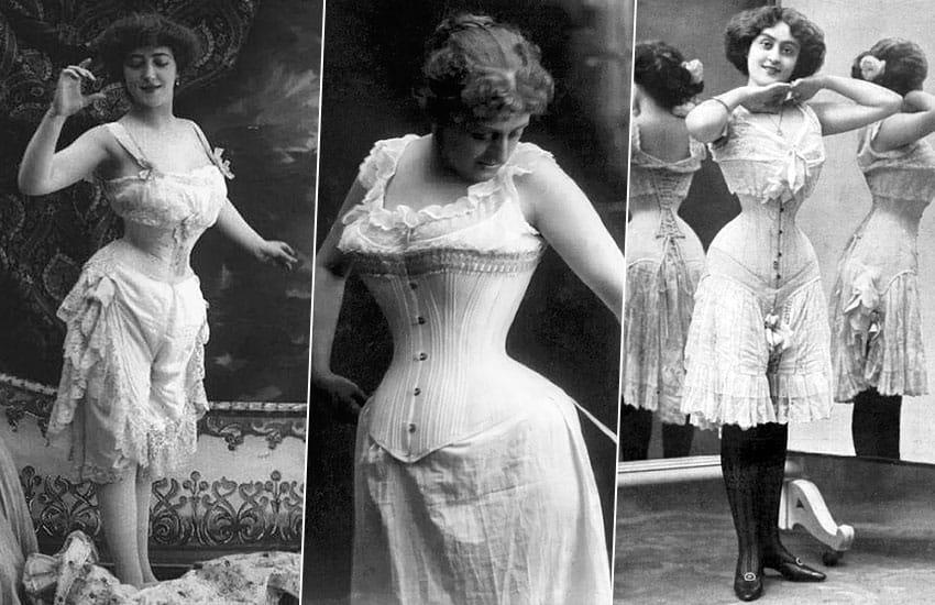 история нижнее белье мода прошлое корсет