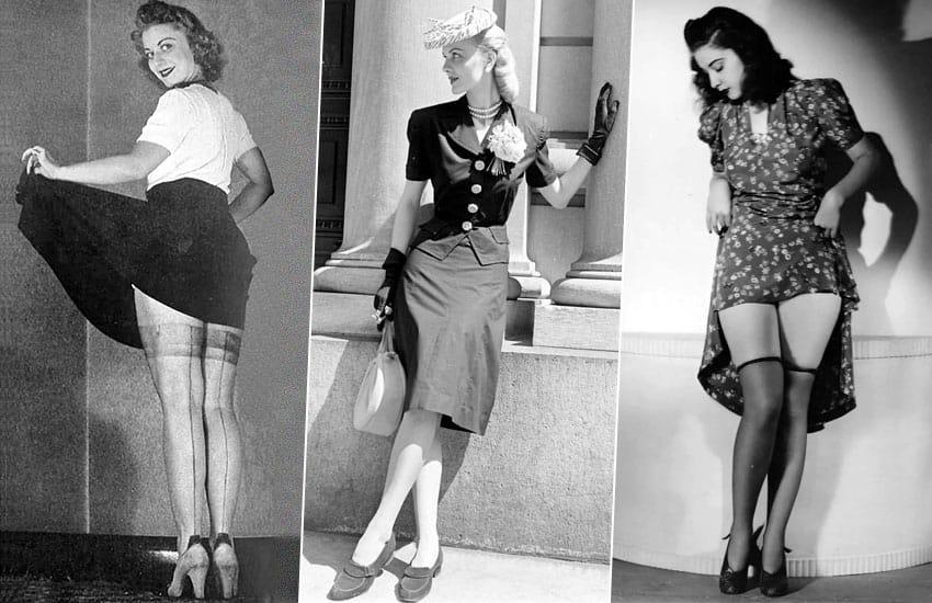 история нижнее белье мода прошлое чулки