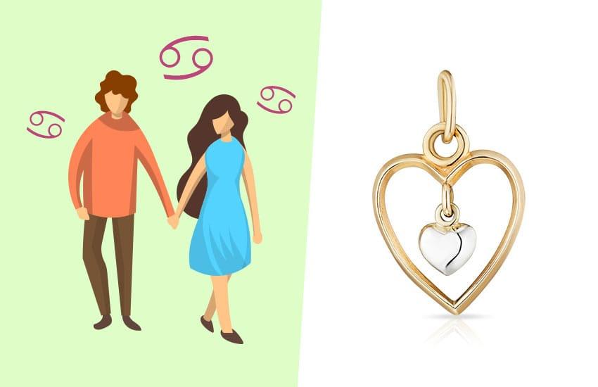 гороскоп любовь мужчина женщина зодиак совместимость украшение подвеска сердце