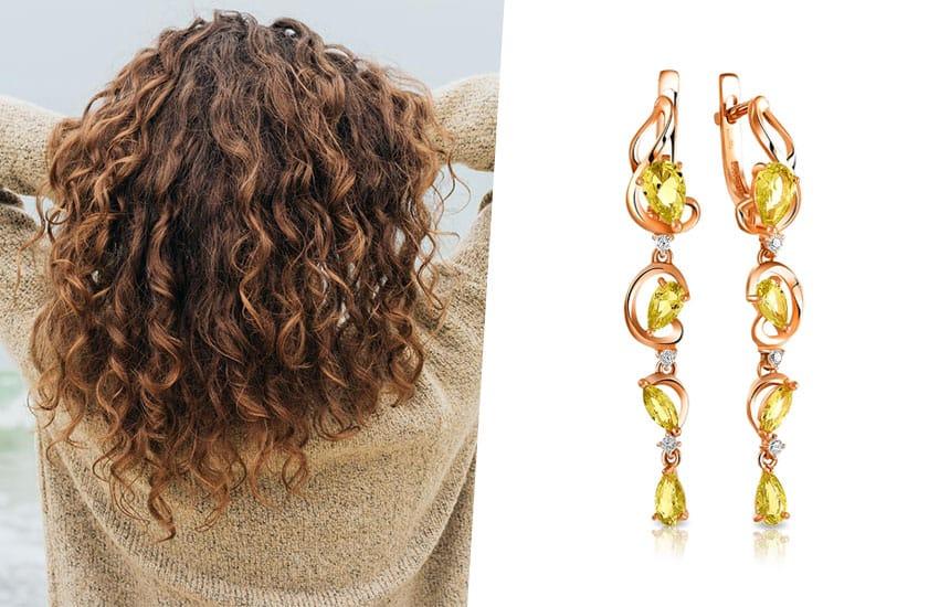 волосы окрашивание цвет серьги украшение