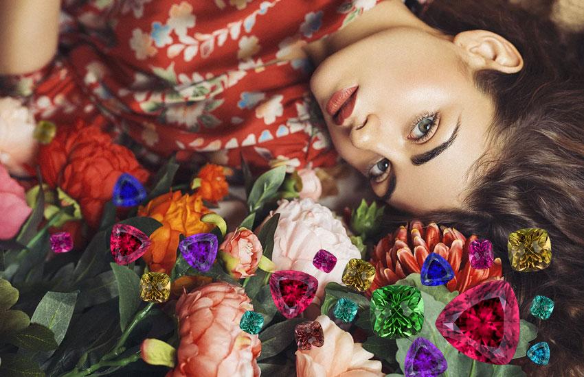 драгоценные камни украшения девушка мода стиль тренд