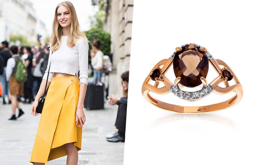 мода стиль весенний образ юбка кольцо