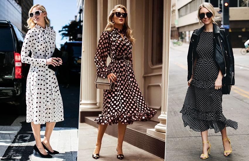 платье в горошек покупки май мода стиль тренды шоппинг