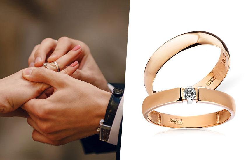 свадьба классический стиль обручальные кольца