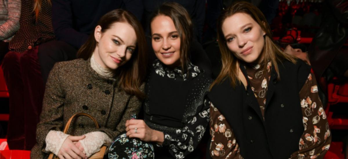 Леа Сейду, Алисия Викандер и Эмма Стоун в рекламе Louis Vuitton