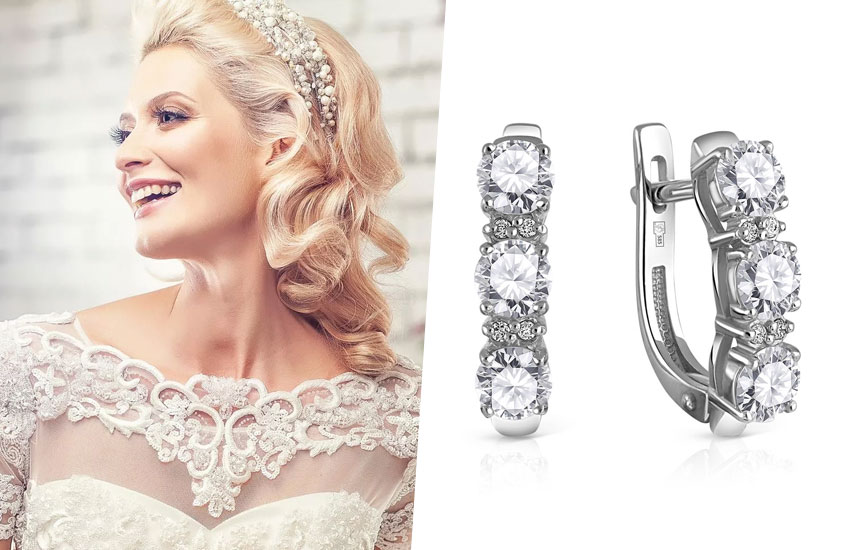 невеста свадебная мода тренды украшения аксессуары серьги