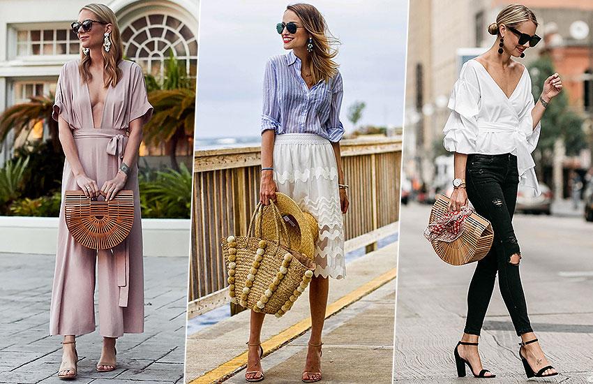 главные покупки июня мода тренды сумка из соломы