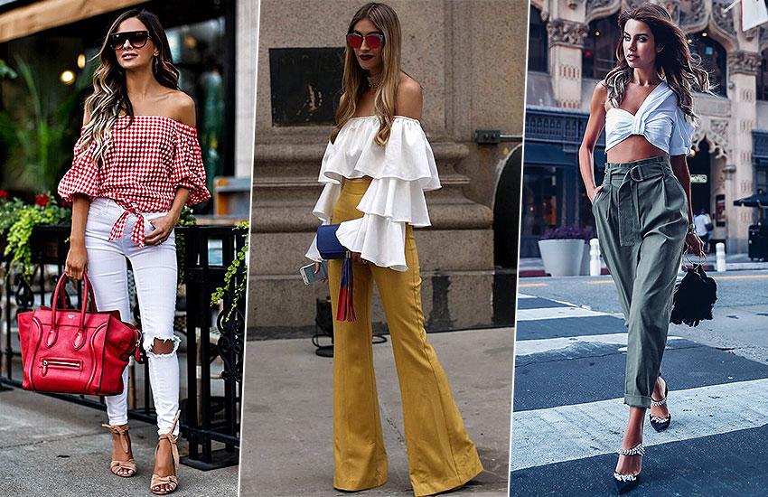 главные покупки июня мода тренды топ с открытыми плечами
