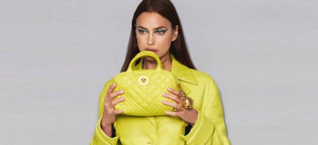 Ирина Шейк в неоновой коллекции Versace
