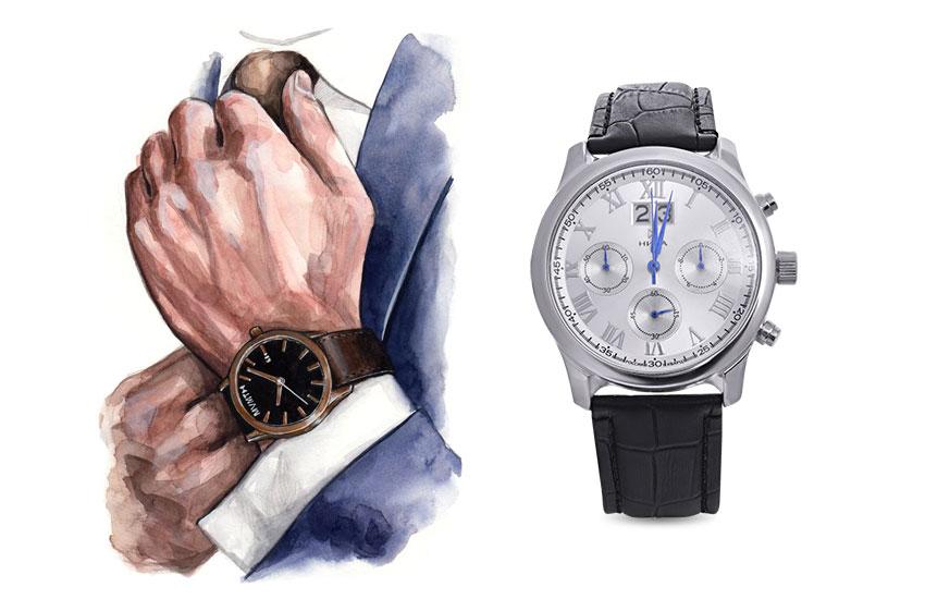 Мужской стиль аксессуары кожаные изделия часы