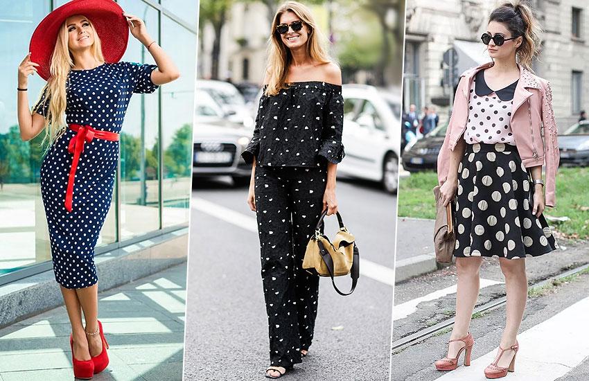 горошек принт тренд сезона мода