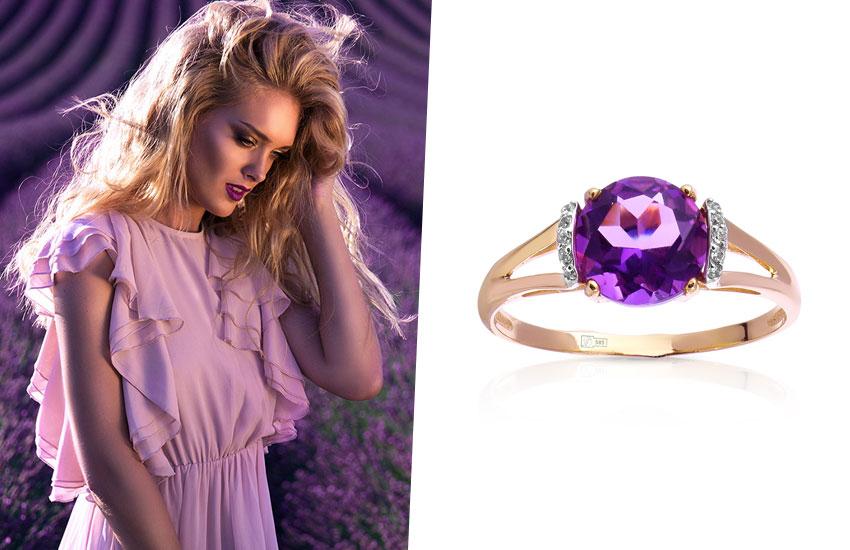 Девушка романтика талисман драгоценный камень удача в любви аметист