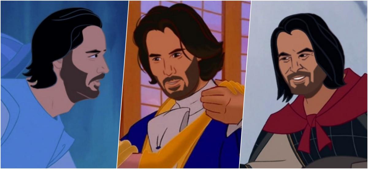 Киану Ривз в роли всех принцев Диснея