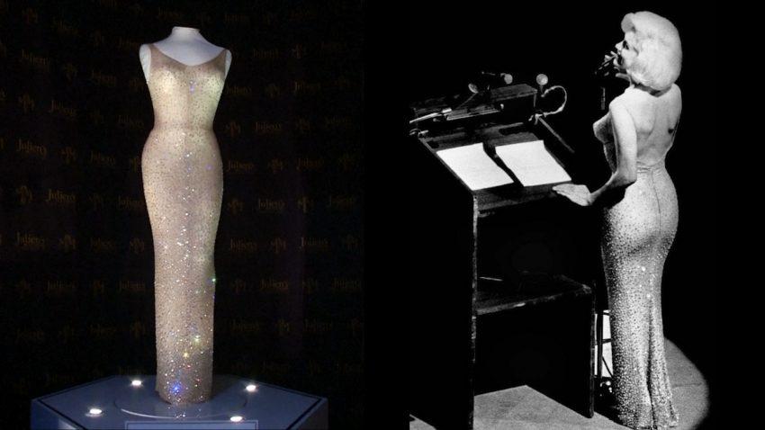 Мэрилин Монро кристаллы Swarovski Сваровски платье