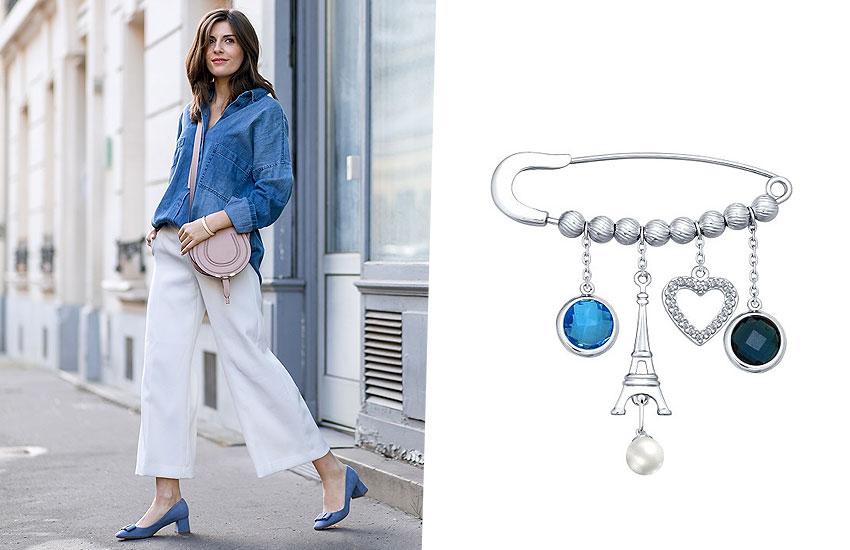 украшения мода тренды настроение подарок Париж Франция шик стиль булавка