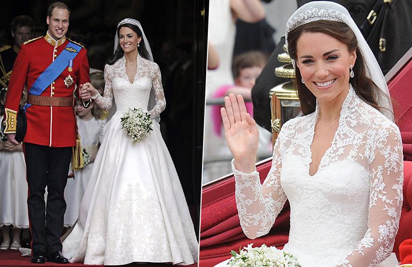 Кейт Миддлтон невеста лучшие свадебные платья всех времен