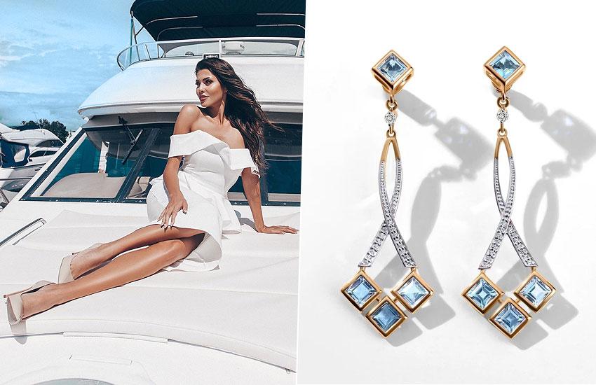 украшения мода тренды настроение подарок Лазурный берег Франция шик стиль серьги