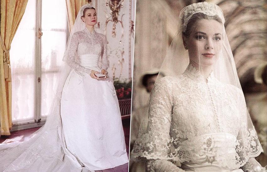 Грейс Келли невеста лучшие свадебные платья всех времен