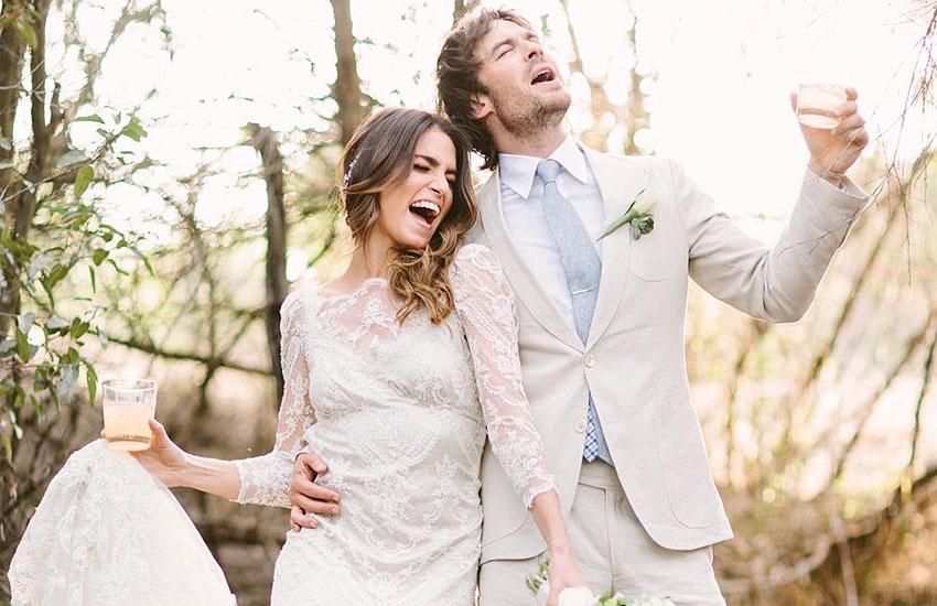 Иэн Сомерхолдер и Никки Рид знаменитости свадьба
