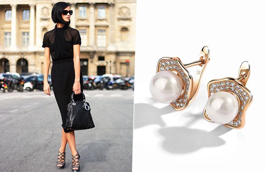 украшения мода тренды настроение подарок  Франция шик стиль серьги жемчуг