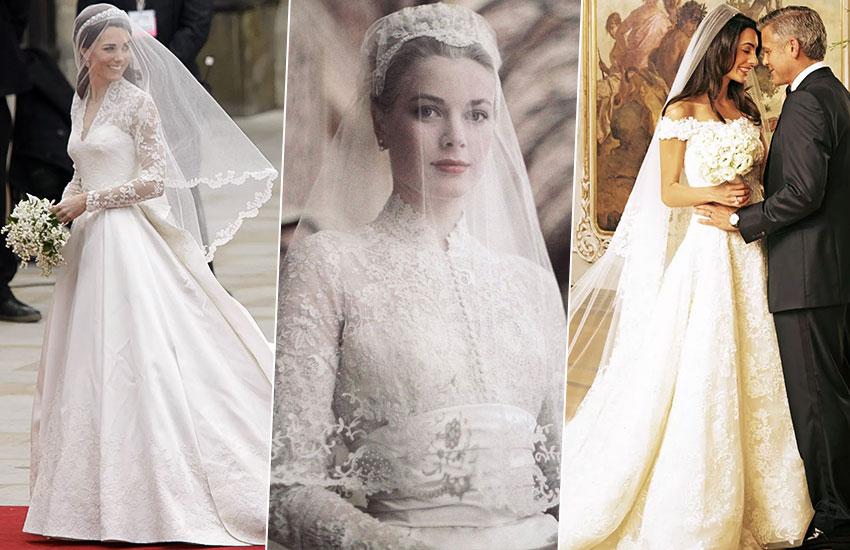 Кейт Миддлтон Грейс Келли Амаль и Джордж Клуни невеста лучшие свадебные платья всех времен