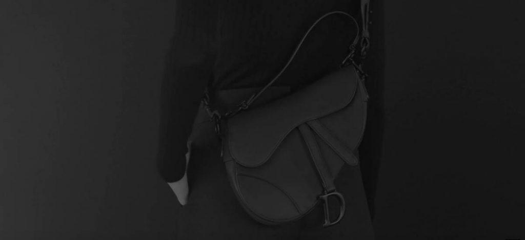 Классические сумки Dior перевыпущены в черном цвете