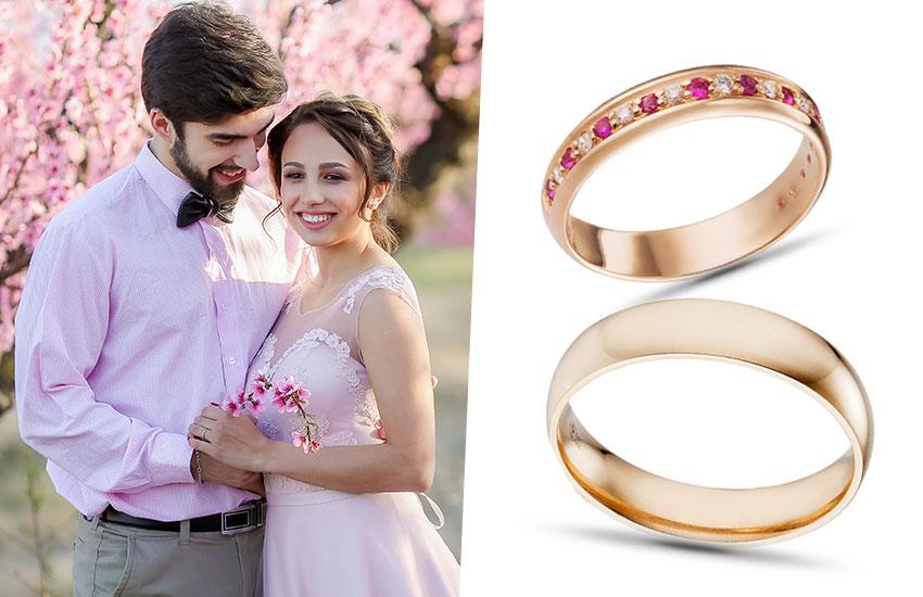 розовая свадьба стиль аксессуары бракосочетание советы стилиста невеста обручальное кольцо розовое золото