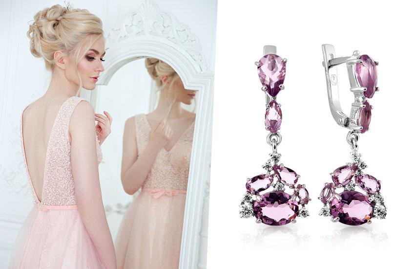 розовая свадьба стиль аксессуары бракосочетание советы стилиста невеста серьги