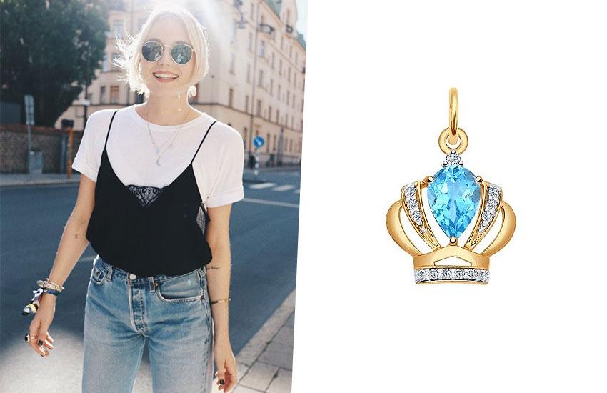 украшения с короной королевские драгоценности золото тренды мода 2019 подвеска