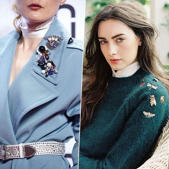 Главный мастхэв осени: 5 стильных способов носить броши