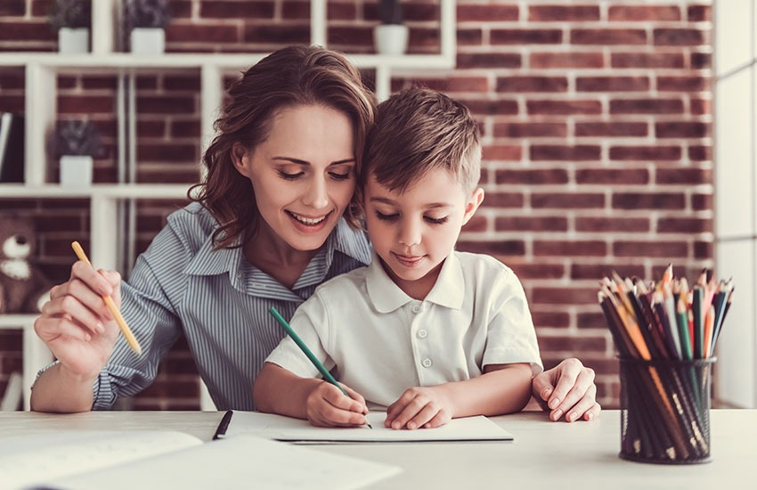 мама ребенок школа Первое сентября