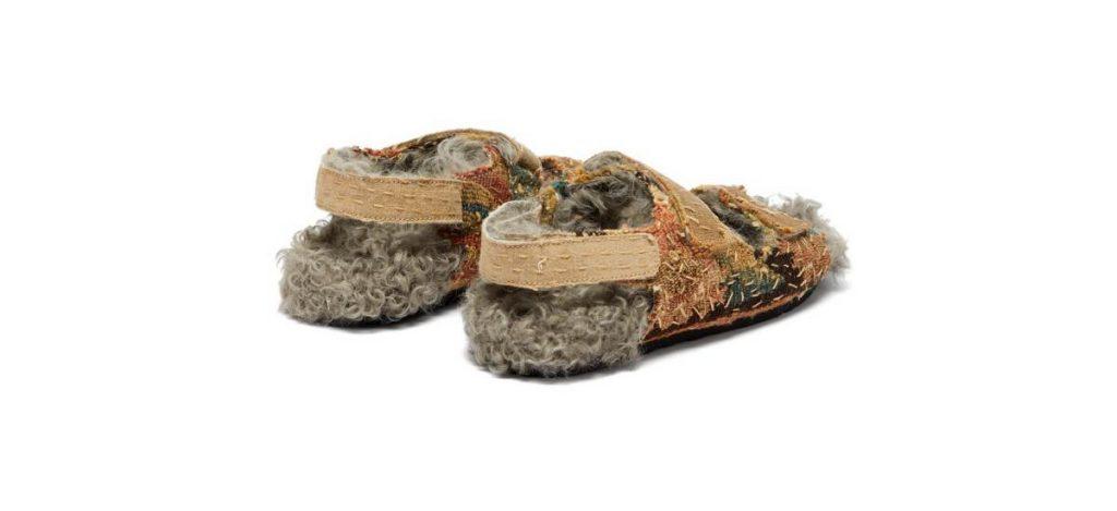 Новинка: сандалии на овечьей подошве из гобелена XVII века