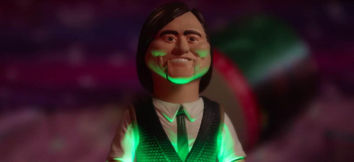 Джим Керри и говорящая кукла в сериале «Шучу»