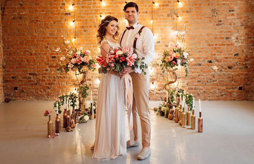 Свадебный стиль свадьба в золотом цвете невеста свадебная мода