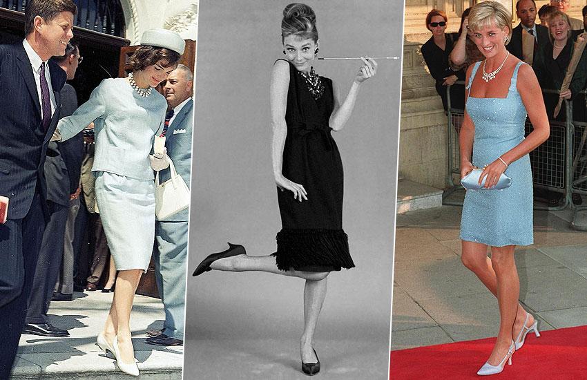 Жаклин Кеннеди Одри Хепберн Принцесса Диана история моды туфли лодочки шпильки интересные факты