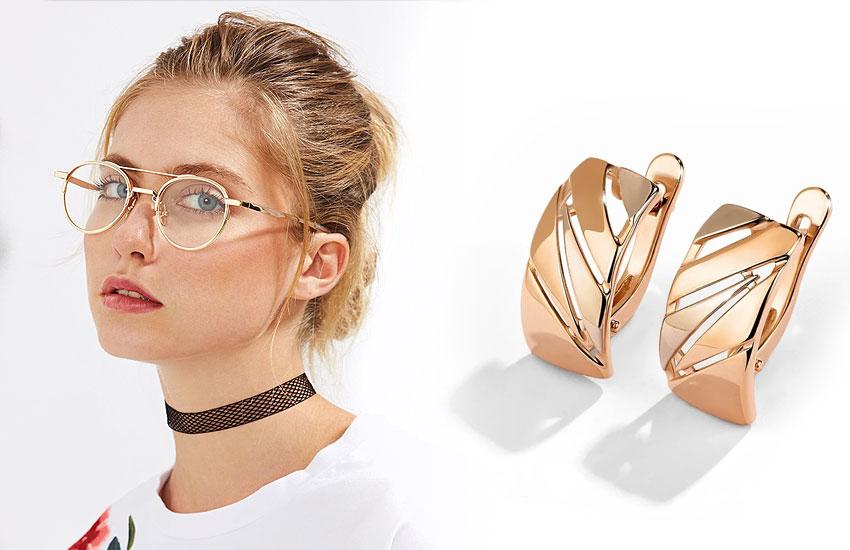 девушка очки для зрения серьги аксессуары стиль