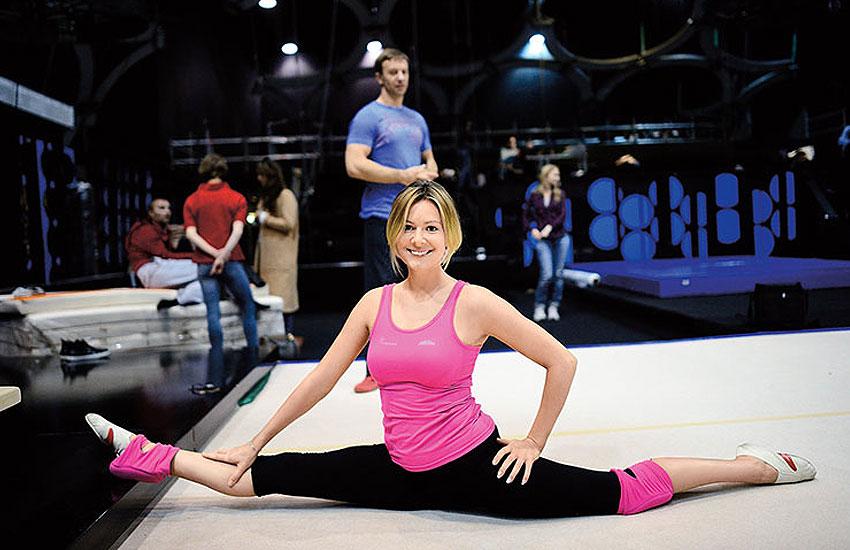Мария Кожевникова Шпагат фитнес растяжка как сесть