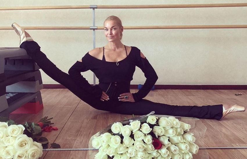 Анастасия Волочкова Шпагат фитнес растяжка как сесть