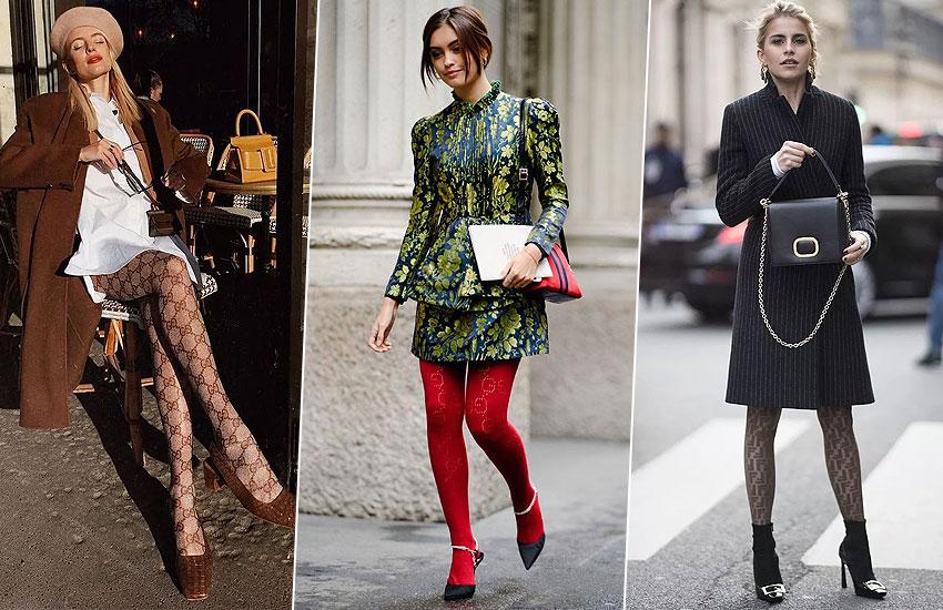 мода стиль тренды колготки осень зима 2019 2020 советы стилиста