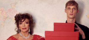 Джоан Коллинз в праздничной рекламной кампании Valentino