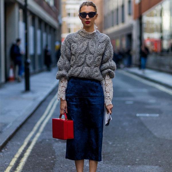 Советы стилиста: как носить юбки и платья в холодное время года