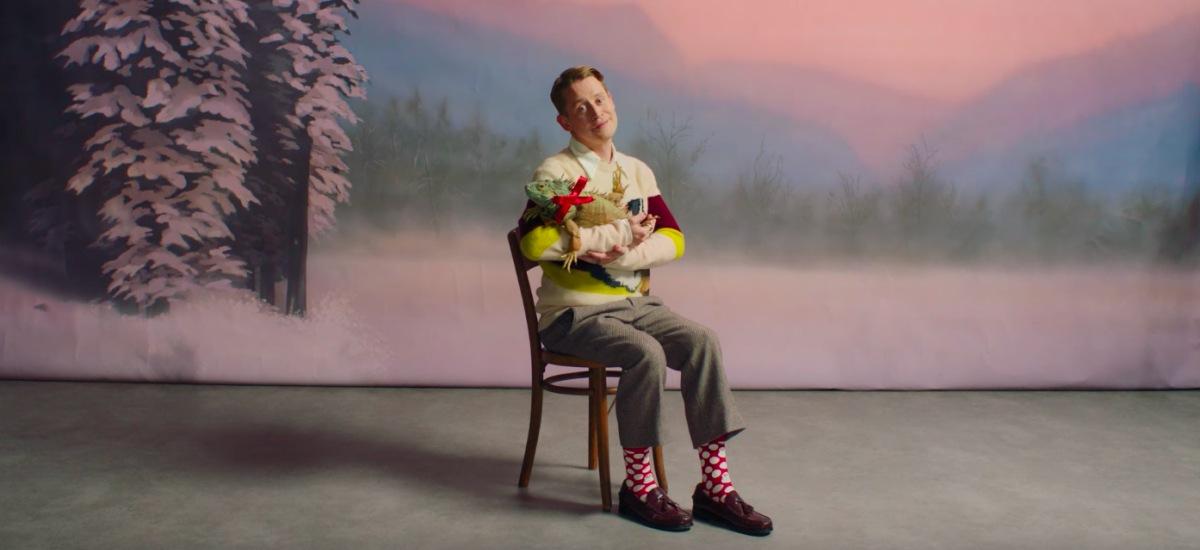 Маколей Калкин в рождественской рекламе носков