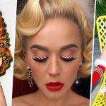 Елка из волос и леденцовые стрелки: вдохновляемся праздничным образом Кэти Перри