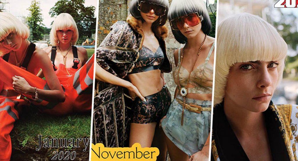 Кара Делевинь и Кендалл Дженнер украсили календарь Chaos